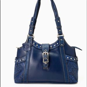 NWT Navy Madi Floral Tapered Tote